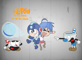 Cartoon Anime Mash up of some kind (with color) by L-Rid