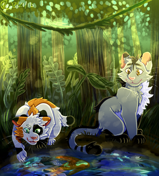 (com) meet me by the pond by pose-y