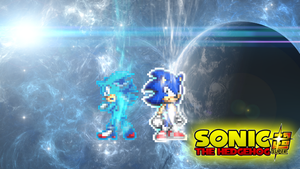 UI Sonic and Beyond Super Shadow Blue Wallpaper. by DrizzlyScroll1996