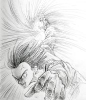 Anger of android 17 by papersmell