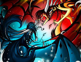 Fire Vs Ice by Dragongirl269