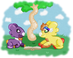 Reading with a Friend by Cherry-Spot