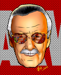 Stan lee. by CrazyDraftsman