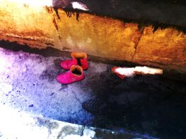 Shoes of Poor Girl by Rmin