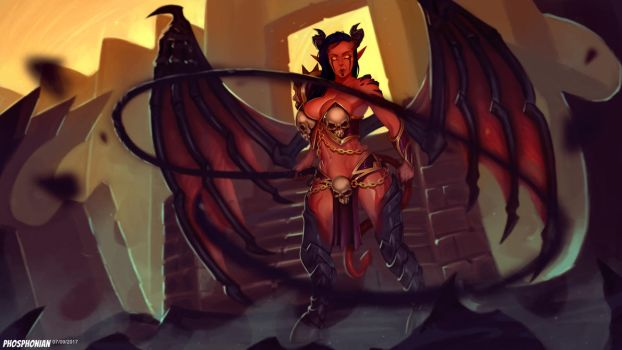 Succubus Commission (Impgirl) by Phosphonian