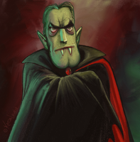 Cartoon Dracula sketch by KatLouhio
