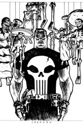 Punisher cover no.61 no color by Devilpig