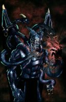 Lucifer, the Beast with 7 heads and 10 horns by SethBrandon
