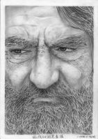 Homeless Old Man Pencil Portrait by chong-yi