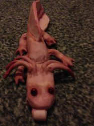 Axolotl full shot by Itchywitchygirl