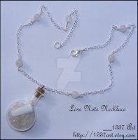 Love Note Necklace by 1337-Art