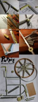 BJD wheelchair WIP: construction compilation 4 by PuppitProductions