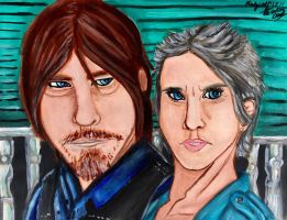 Carol and Daryl  by pladywolf82