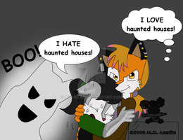 Haunted Houses by Michelay