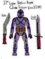 37th Legion Beskar Brigade Clone Trooper 22BBY by Sir-Saboteur