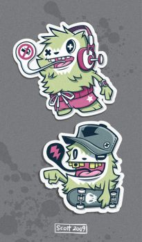 Yeti Stickers by cronobreaker