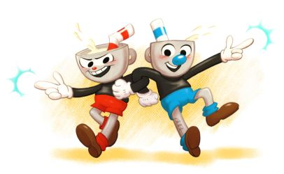 Cuphead and Mugman by plutotes