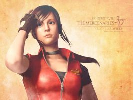Claire Redfield RE: M3D wall by Claire-Wesker1