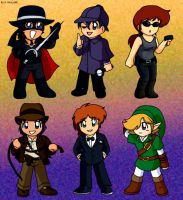 Ronin Warriors- Costume Chibis by K-Shinju88