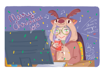 Merry Christmas 2018 by leony-chan