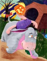 Eeyore and Piglet as the Headless Horseman by theCreativeRoy