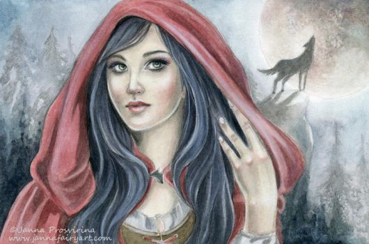 Red Riding Hood by JannaFairyArt