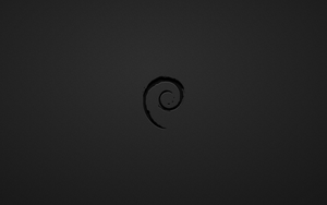 Debian Black White Wallpaper by thales-img