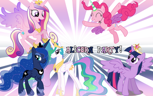 Alicorn party wallpaper by Timexturner