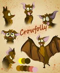 Crowfolly Ref Sheet by Flare-Animates