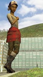 Clementine pose in the city by shrunkenlover