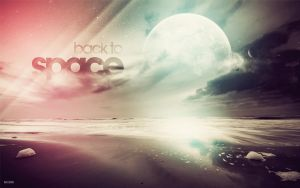 Back to space wallpaper by karmagraphics