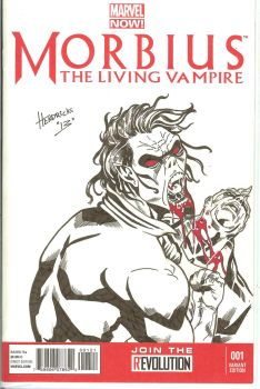Morbius Sketch Cover by qiunzo