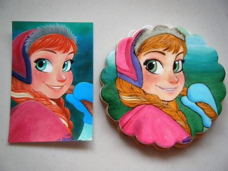 Comparison: Anna painted cookie by chiaopi