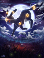 umbreon full moon by ko-yuki-chan