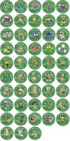 Grass Type Pokemon Badges