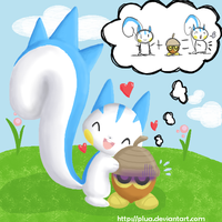 Pachirisu loves Seedot