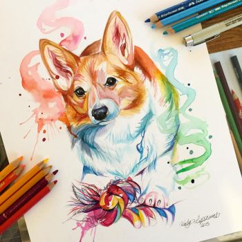 170- Corgi Commission by Lucky978