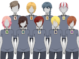 :Kisekae Hair Exports!: Male/Androgynous Styles: by Galaxial-Unicorn