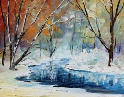 Winter 3 by Leonid Afremov by Leonidafremov