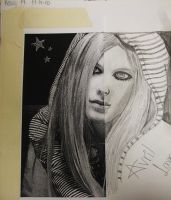 Avril Lavigne -school project- by xXimmaeatjooXx