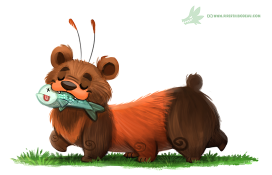 Daily Paint #1140. Wolly Bear by Cryptid-Creations