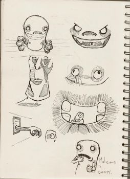 Ghost doodles by hippoboy