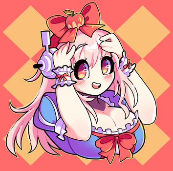 Headshot Commission: Super Sonico by Blushily