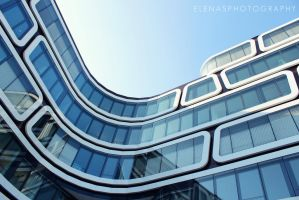 blue building. by elenasphotography