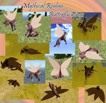 New butterfly wings for MYTHICAL REALMS by wolf-NaKomis