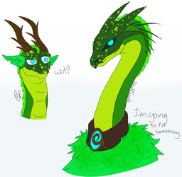 Leafy and Draki by aerithedrgn