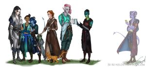 Critical Role family by Se-re-nA