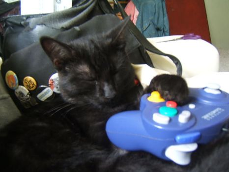 sleepy gamer by left-to-be-desired