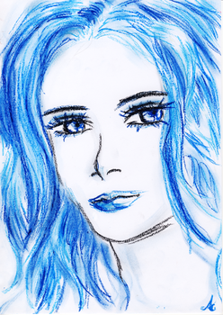 Sweet Miss Blue by HydeousShadow