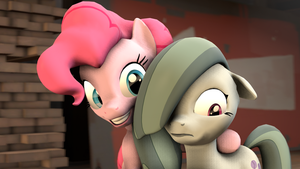Pinkie and Marble Pie by Shamperin0